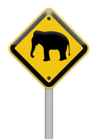 piktogramm: Beware of elephant sign