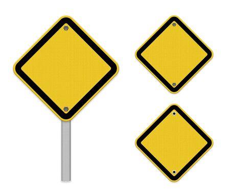 空白の交通標識 写真素材