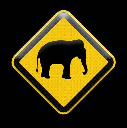 piktogramm: elephant sign