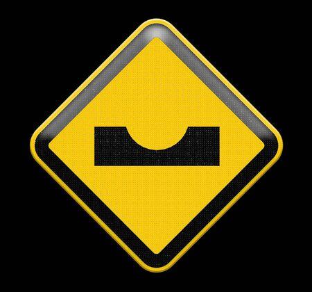 yellow beware: Alert Hole sign
