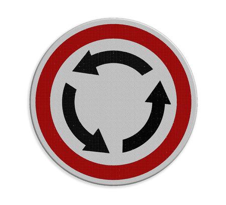 cruce de caminos: Cruce la rotonda señal de tráfico