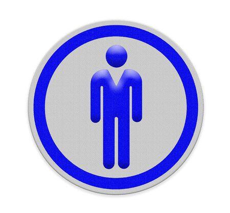 bord toont de weg naar het toilet voor de man
