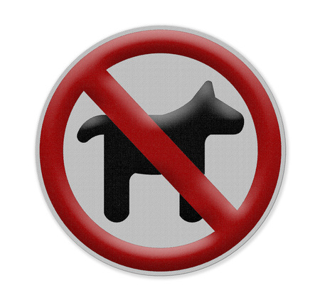 illegal zone: no dogs or pets