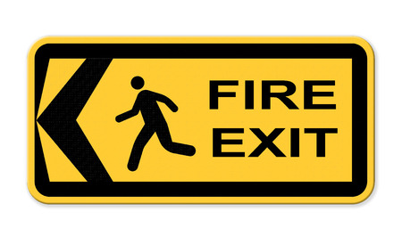 fire exit: Emergency fire exit