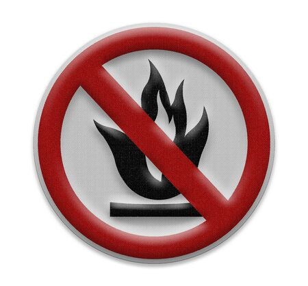 No flammable goods sign Stock Photo