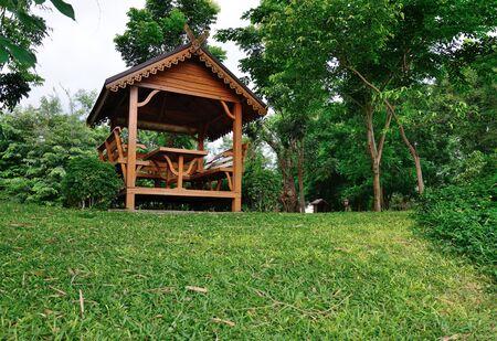 summerhouse: little summerhouse made of wood