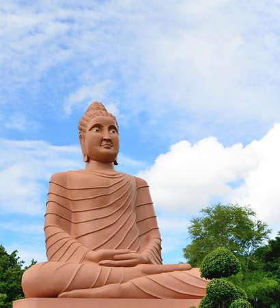 trone: Great Buddha statue in kanchanaburi, Thailand