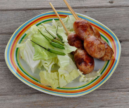 fermented: Thai food - East-Northern Thai Grilled Rice Sausages (Fermented
