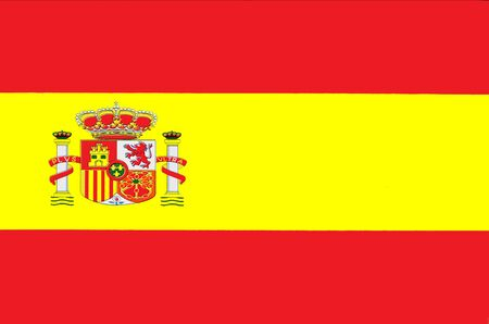 Spain national old flag Фото со стока