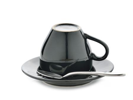 Empty coffee cup on white background Фото со стока
