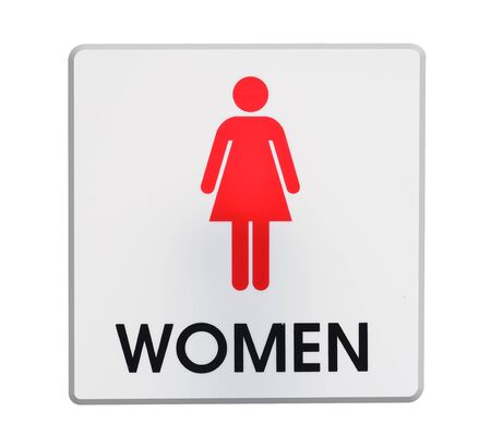 plastic made: Restroom  sign Made of plastic