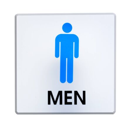 Restroom  sign Made of plastic
