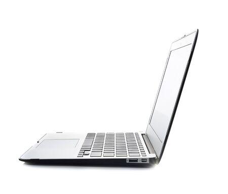 laptop on white background Фото со стока