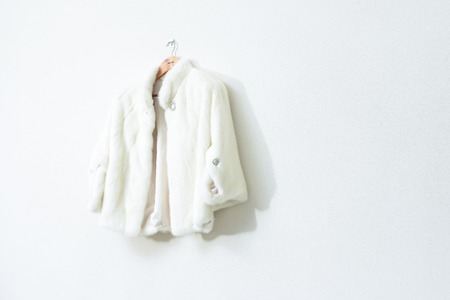 I vari cappotti di pelliccia al negozio Archivio Fotografico