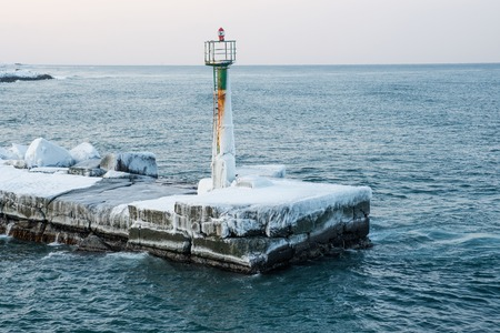 peril: The pier is a solid sheet of ice