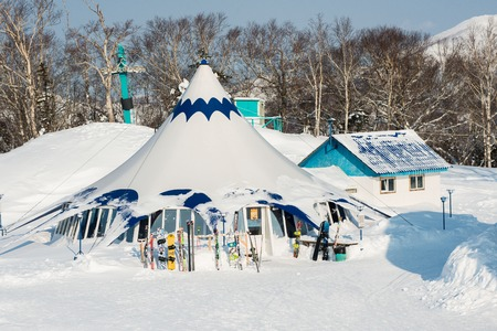 whiteness: Russia Yuzhno-Sakhalinsk Jan 10, 2014 : Sports and technical complex Gorny Vozdukh winter ski resort