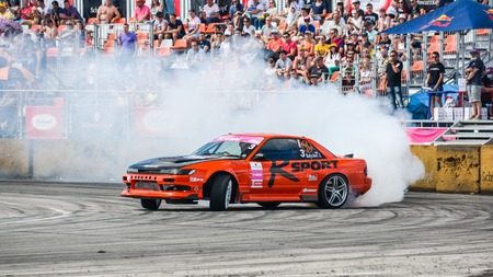 Khabarovsk Russia Jul 10, 2016 : Russian Drift Series Stage 4 RDS Vostok 2016 Editorial
