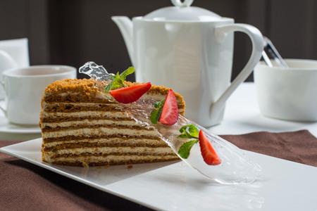 piece of honey cake