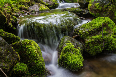 beck: Waterfall landscape river Stock Photo