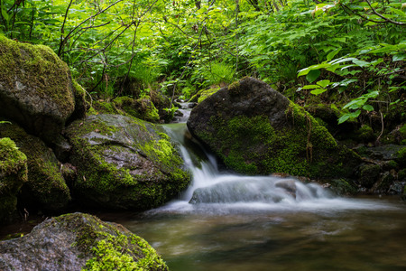 Waterfall landscape river Stock Photo