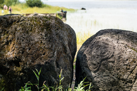 Ancient Petroglyph is located in the Sikhote-Alin , Khabarovsk, Russia