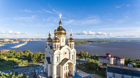 ハバロフスク、スラブ広場、正教会大聖堂、ハウスラジオ