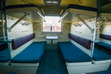 Interior of the Trans-Siberian Express train, connecting Moscow with the Russian Far East, ending in Vladivostok