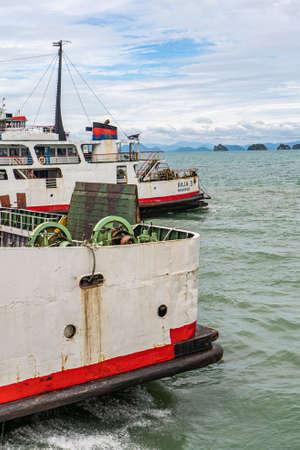 Thailand, Koh Samui May 20-2019 : sea ferries. crossing to Koh Samui. Ferry. Stockfoto - 147007253
