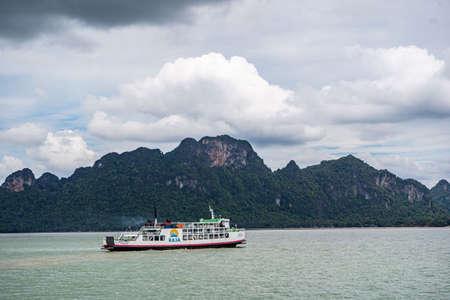 Thailand, Koh Samui May 20-2019 : sea ferries. crossing to Koh Samui. Ferry.