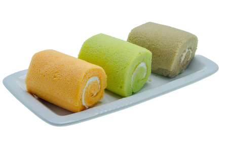 swiss roll: Colorful swiss roll Stock Photo