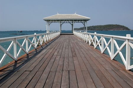 The old bridge at Ko Sri Chang, Chonburi.