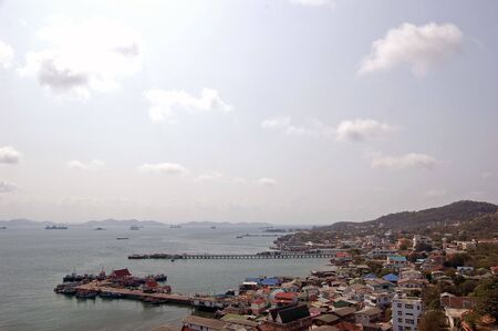 Port at Koh Sri Chang, Eastern, Thailand.