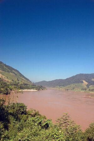 The Mekong River at Chaing-Rai, Northern, Thailand.