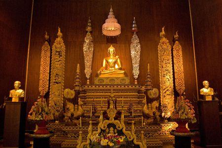 Buddha at Chaing-Rai, Northern, Thailand. Stock Photo