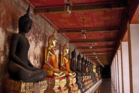 Wat Sutad, Bangkok, Thailand. Stock Photo