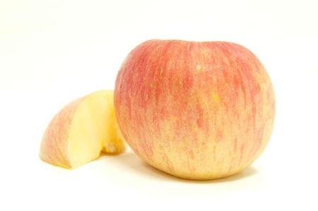 Fuji apple on isolate background. Stock Photo