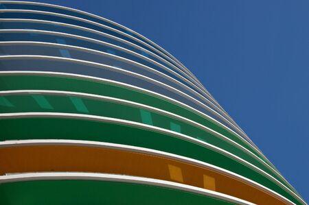 Colors of the new building in Siriraj Hospital, Bangkok, Thailand. (072010)