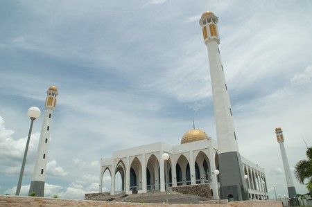 Central of Mosque Song Khla at Had Yai, Song Khla, Thailand.