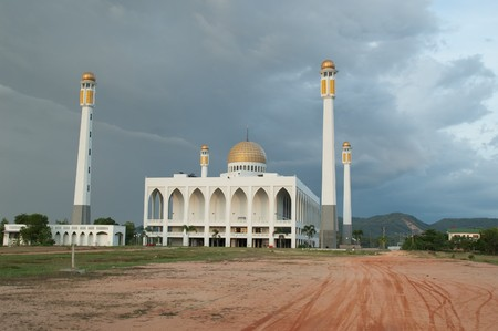 Central of Mosque Songkhla at Had Yai, Song Khla, Thailand.