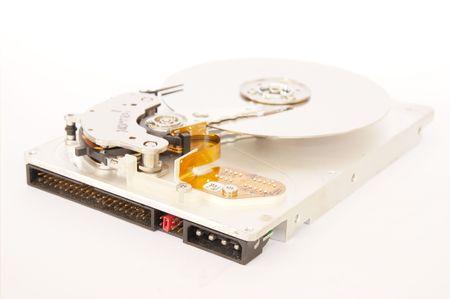 Inside of harddisk on isolate background.