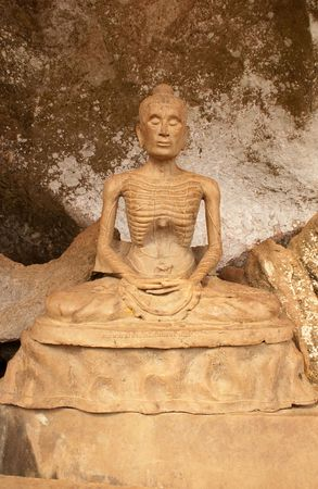 starvation: Buddha statue (mortify by starvation) at Phangnga, Thailand. Stock Photo