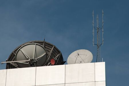 Satellite signal for television station.