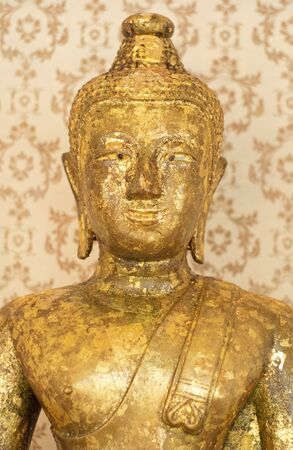 Closeup golden buddha statul, Bangkok, Thailand