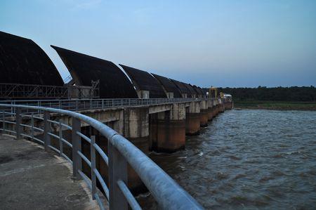 Water Gate Dam at Northeast, Thailand.