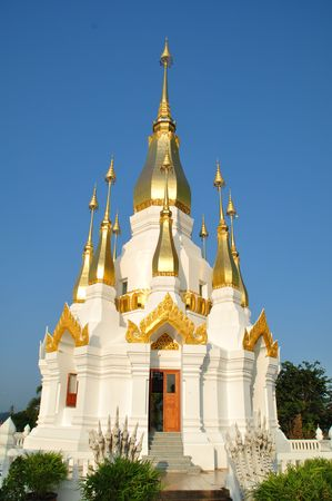 Beautiful white gold relics. The Northeast of Thailand. Stock Photo