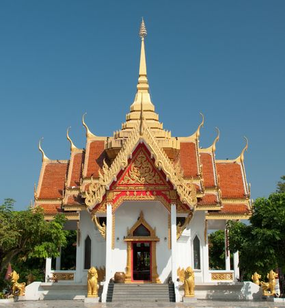 Pillar Hall of the provinces in northeastern Thailand Stock Photo