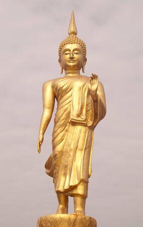 Buddha statue in temple, Bangkok, Thailand.