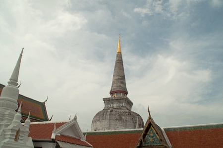The old pagoda at Southern, Thailand.