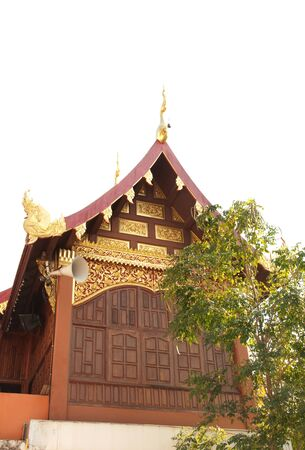 Beautiful parsonage in temple at Northern, Thailand.