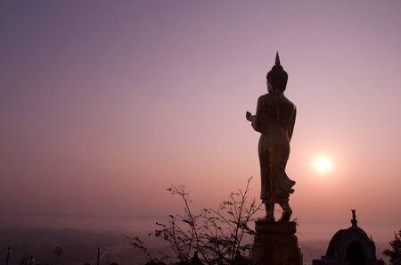 Beautiful golden buddha statue at northern, Thailand. Stock Photo